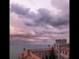 Stormy #sunset at #duino #castle in #trieste - #italy #landscape #nature #sea...