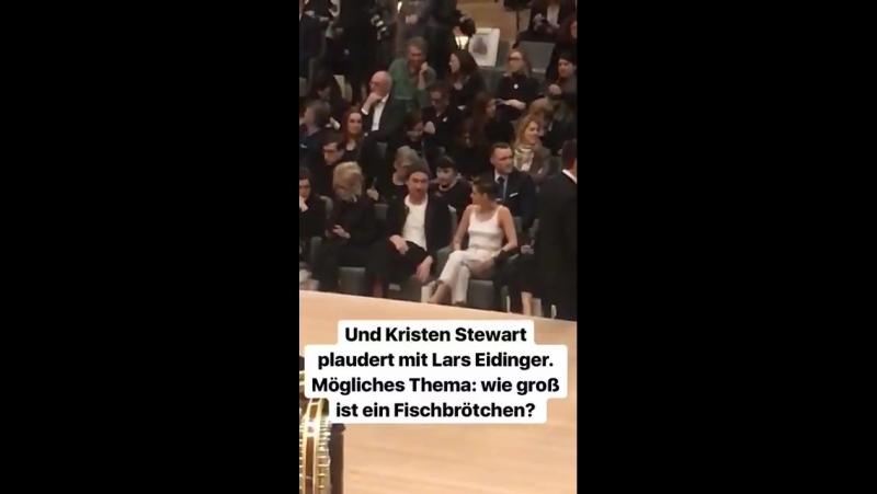 Kristen and Lars Eidinger having a Sils MariaPersonal Shopper reunion