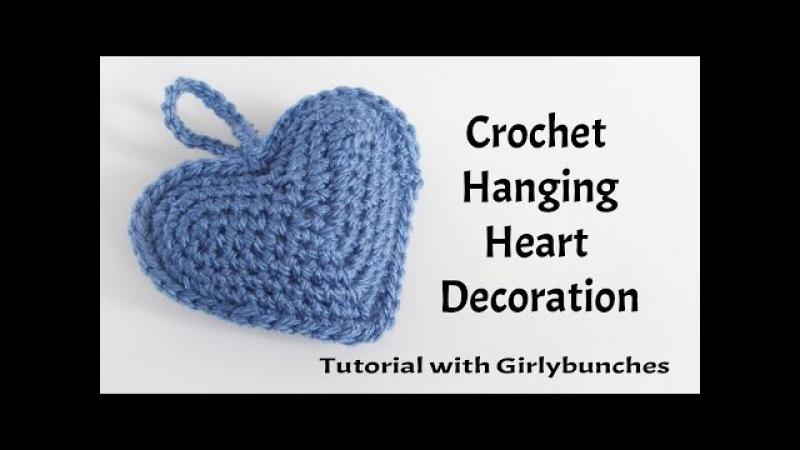 Hanging Heart Crochet Decoration - Tutorial   Girlybunches