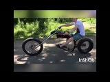 Велочоппер, электро кастом велобайк. Растабайк.