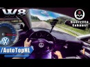 VW Passat W8 ACCELERATION TOP SPEED AUTOBAHN POV by AutoTopNL
