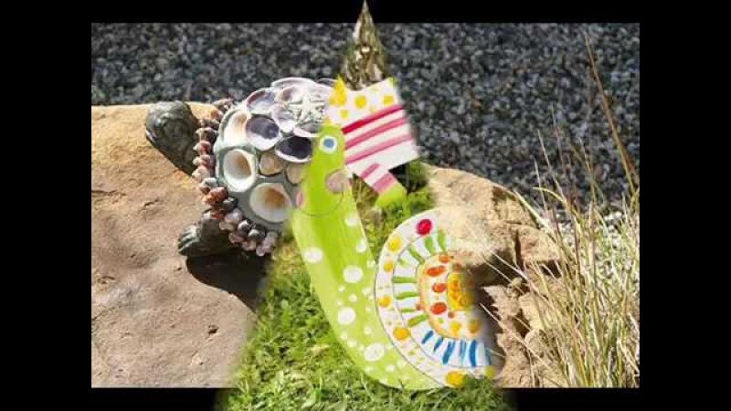 Интересные фигурки для сада из разных материалов