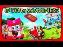 Five little zombies jumping on the bed Scary Nursery Rhymes For Kids Children's Song