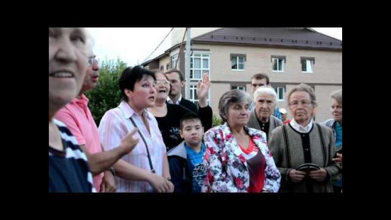 Общение с директором ООО МЭС Ю.Н. Егоровым после встречи с и.о. мэра 26 июля 2017