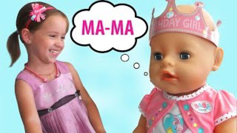 Куклы Беби Борн игры для девочек интерактивная Кукла Беби Бон девочка Катя Baby Bo...