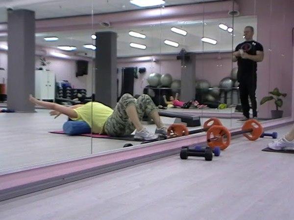 Миофасциальный релиз семинар SuperFitness Company. Упражнение для позвоночника.