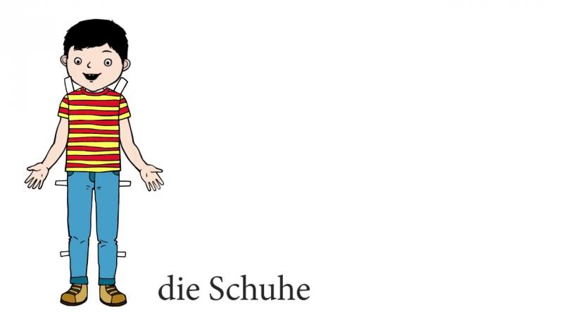 Puppe zieht Kleidung an - Deutsch lernen für Kinder - Learn German