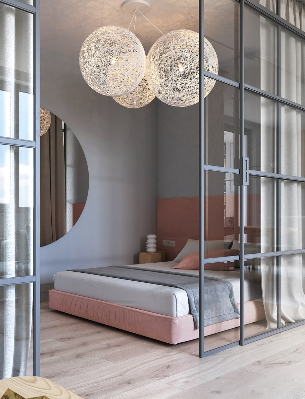 Проект квартиры 45 м для балерины.