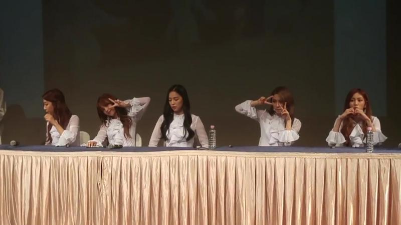17 08 12 CLC 신촌 현대백화점 유플렉스 팬사인회 1 오프닝