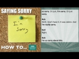 How to… say sorry
