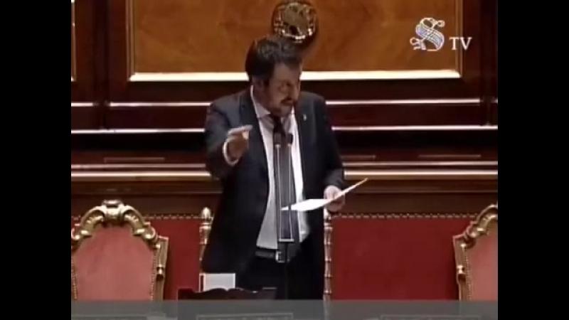"AQUARIUS MATTEO SALVINI massacra"" Soros e infiamma il Senato Integrale"