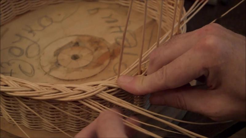 """Плетение из лозы-Кромка""""Широкая коса"""" -Азбука плетения-Wickerwork"""