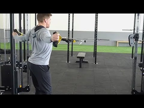 Cable Reverse Flyes With TRX Straps