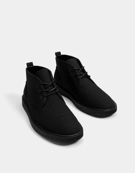 Однотонные мужские ботинки