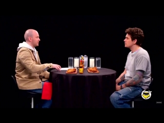 John Mayer talking about Camila in the latest Hot Ones episode