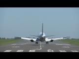Аэропорт Могилев. Мягкая посадка самолета из болгарского Бургаса.