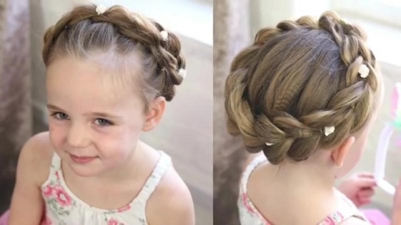 Коса ободок для девочки