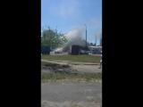 Ауди 100 сгорело на ул. Суворова