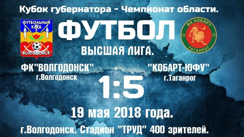 19 05 2018 ФК Волгодонск Кобарт ЮФУ Таганрог 1 5 0 2