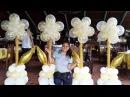 COMO HACER UNA FLOR CON GLOBOS PASO A PASO/ flower balloon columna de goblos con flores