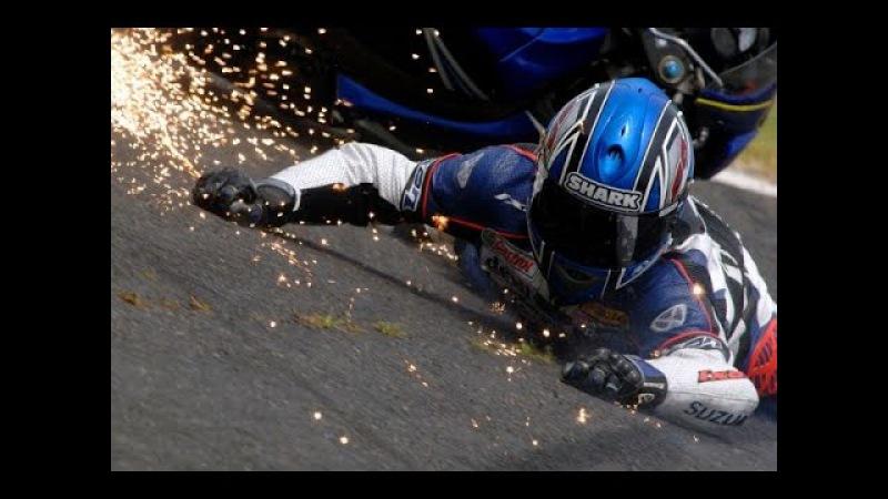 Мото падение глазами мотоциклиста - Больно Moto crash 2017