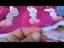 Explicacion de la manta de conejitos tejida a crochet parte 1