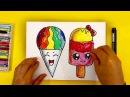 Как нарисовать МОРОЖЕНОЕ Радугу Уроки рисования для детей