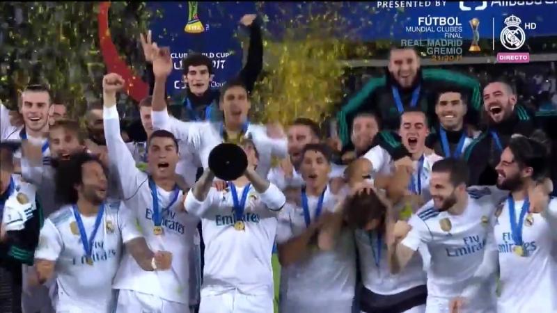 Церемония награждения и празднование команды на поле, 16.12.2017, CLUB WORLD CUP CHAMPIONS 2017    Клубный чемпионат мира 2017
