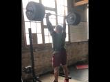 Мартинс Лицис, жим стоя 143 кг на 5 раз