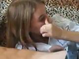 Учат малолетку делать минет =))) часть 1
