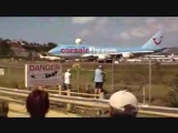 Аэропорт Принцессы Джулианы Посадка Самолетов!!!!!!!!