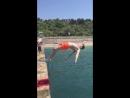 Тренер Алексей - заднее сальто в море