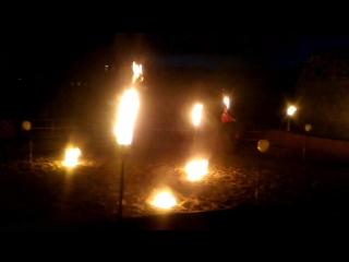 Огненное шоу Кони Огня в замке Нессельбек. Фрагмент 2.