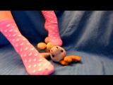 Trampling the little elk with rosa smell heart socks schoogirl