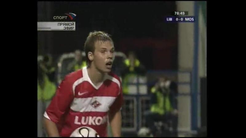 Лига Чемпионов 2006/07. Слован Либерец (Чехия) - Спартак (Москва) - 0:0 (0:0).