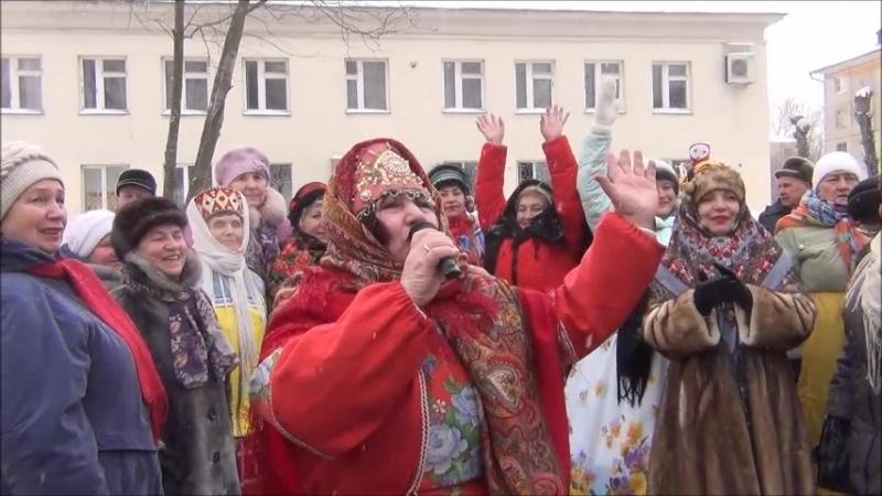 Весёлая масленица у клуба ВЕТЕРАН 16 февраля 2018г.