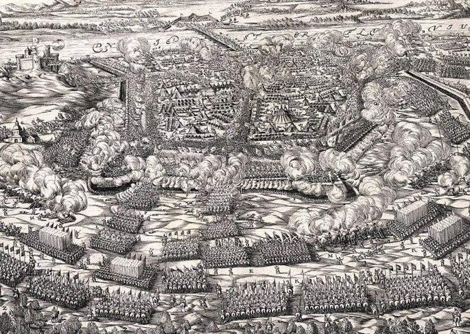Старинная гравюра о Хотинской битве 1621 года