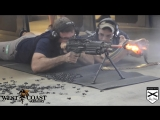 Уничтожение глушителя и ствола пулемета. Отстрел тысячи патронов.