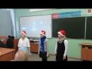 Зимний конкурс чтецов. 4Д класс. слева-направо Настя Тарасова, Настя Макарова, Даша Юдина