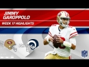 Jimmy Garoppolo Highlights - 49ers vs. Rams - Wk 17 Player Highlights
