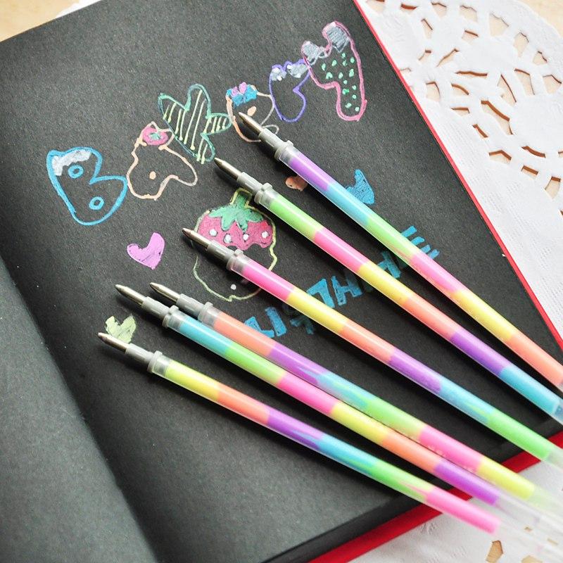 Клвая ПАСТА для Ручки РАДУГА Флуоресцентная - светится в темноте