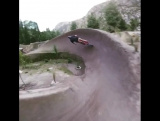 Me and Sam riding on new spot