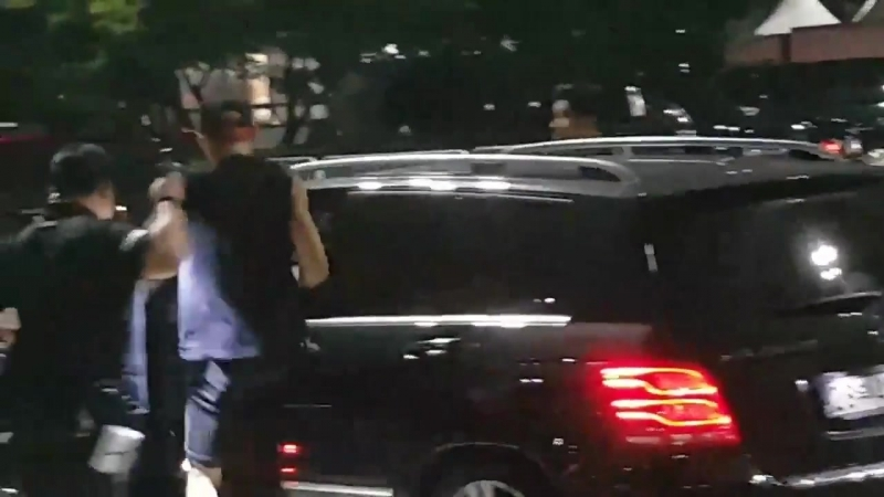 160729 fancam after the concert - EXO Чанёль, Сехун