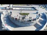 Аэросъемка набережной города Самара (в погоне за теплоходом)