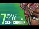 7 WAYS TO FILL A SKETCHBOOK | Sketch With Me - Gouache Speed Paint | Electric