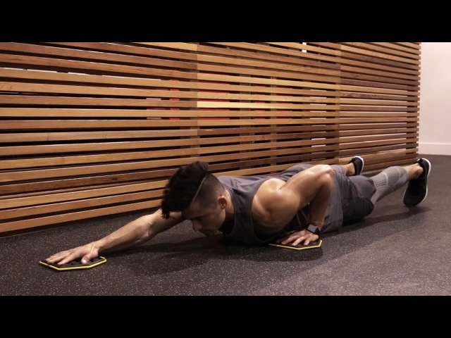 SLIDER PUSH-UP WORKOUT slider push-up workout