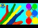 Learn Colors for Children Body Paint Finger Song Учим Цвета Открываем Киндер Сюрприз,Сборник