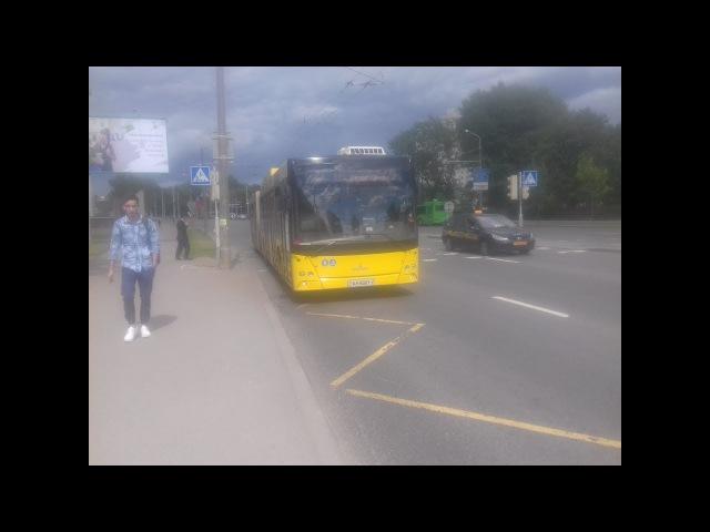 Поездка на автобусе МАЗ-215 , гос.№ АН 8991-7