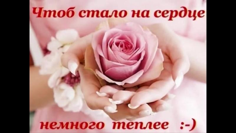 Спасибо за то, что Вы есть у меня! ♥А. Хлестов – Спасибо тебе♥