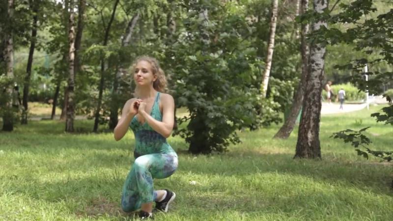 Техника Выпадов - ПОПА-ОРЕХ - How to Do Lunge [90-60-90]